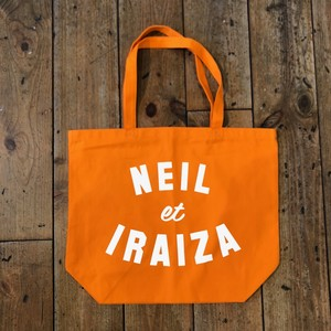 Neil and Iraiza ORANGE LARGE TOTE