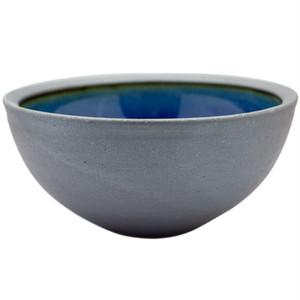 出西窯 丸深鉢 6寸 呉須