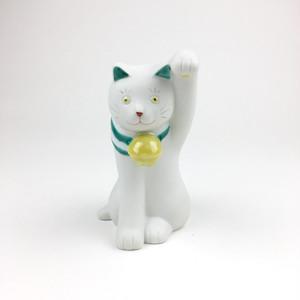 招猫 緑縞・左手