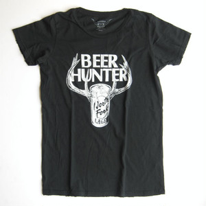 "Bandit Brand ""Beer Hunter"" Womens Vintage Tee#WT-Beer,black"