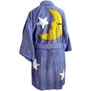 Canyon Group プラッシュ シェニール キモノローブ Moon & Stars Bedroom Blue