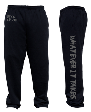 WHATEVER IT TAKES BLACK AND GREY SWEATPANTS #114
