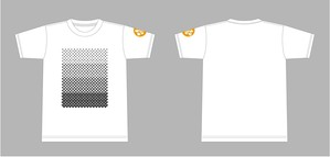 H-E-L-P・Tシャツ(ホワイト×ブラック)
