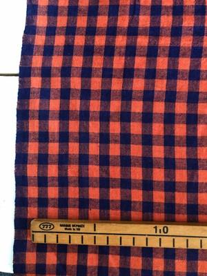 【NEW】Cotton ベンガル / オレンジ + パープル チェック