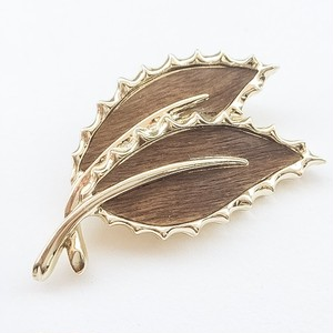 """SARAH COV"" Wooded Beauty brooch[b-174]"