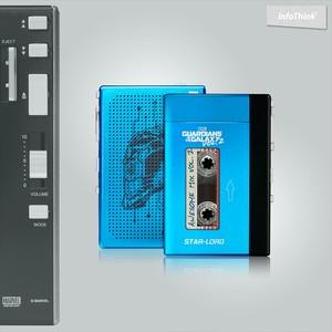 InfoThink Bluetoothスピーカー MARVEL ガーディアンズ・オブ・ギャラクシー:リミックス ポータブルテーププレーヤー型