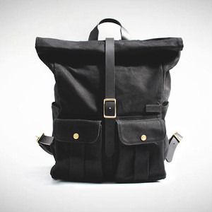Astray Rolltop Backpack [Black / Black]