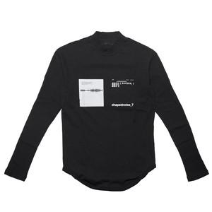 677CPM13-BLACK / SHAPEDNOISE スキニーロングスリーブTシャツ