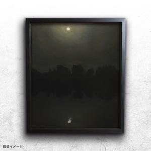 【絵画 油彩】『月は笑う』 F10 額入り