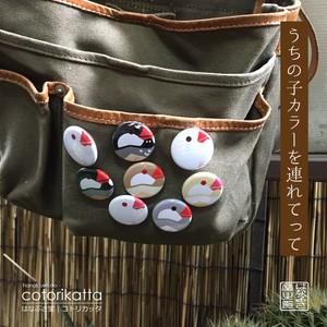 缶バッチ-文鳥シリーズ-