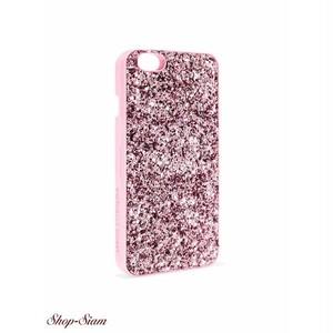 Victoria's secret/ヴィクトリアシークレット ミラー付き・グリッター iphone スマホケース(ピンク)