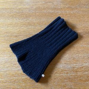 カシミア手編みネックウォーマー黒