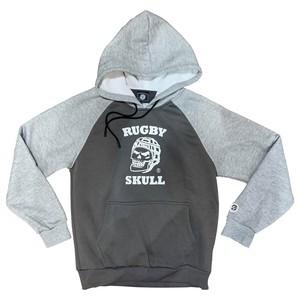 RUGBY SKULL Pullover Hoody Dark Gray × Gray