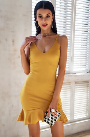 Frill Mini Dress♥