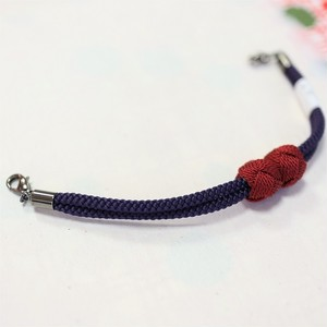 【羽織紐 紫×赤紫色】小田巻きが可愛い羽織紐 便利なマグネットタイプ