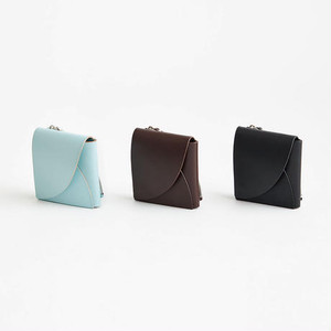 i ro se FOLD SHORT WALLET (BLACK / BROWN / PALE BLUE)