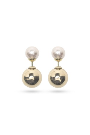 Pearl Catch Earrings | GOLD