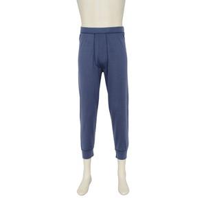 カシミヤ100%八分丈パンツ インディゴブルー メンズニット 柔らかく暖かい