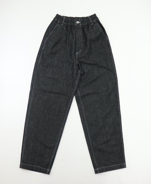 【HARVESTY】DENIM LOOSE TROUSER BLACK UNISEX