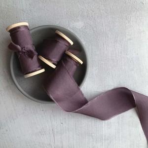 Dusty Plum(手染め手裂きタイプ)1インチ ■木製スプール付 ダスティプラム