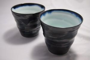 [単品]【フリーカップ】波佐見焼:天釉目ふちがけ