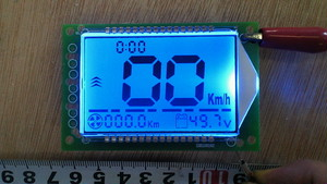コンビネーションデジタルメーター(ブルー)速度・積算距離・電圧・表示