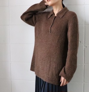 CHANEL brown mohair sweater