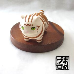 ふとましいねこ(アメショ茶)【受注生産】お弁当ねこの猫部分