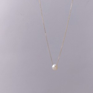 びわこパール ネックレス(K10YG)ホワイト