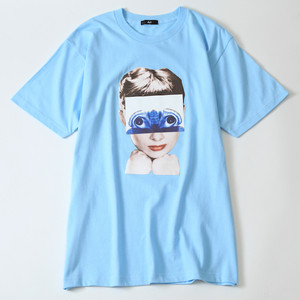 Ari Heroine Tee -Light blue-