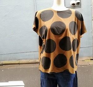 Dotプリント ワイド Tシャツ ( NATURAL LAUNDRY  ナチュラルランドリー )