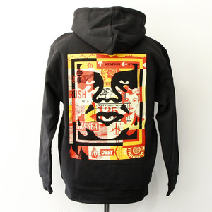 OBEY 3 FACE COLLAGE HOODIE (BLACK)