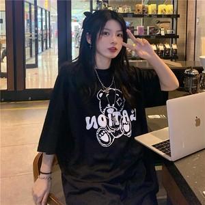 【トップス】半袖ストリート系キュートプリント男女兼用ファッションTシャツ46302623