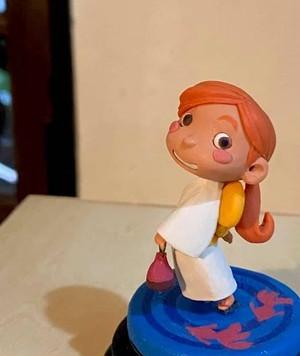 樹脂粘土人形/浴衣(白)