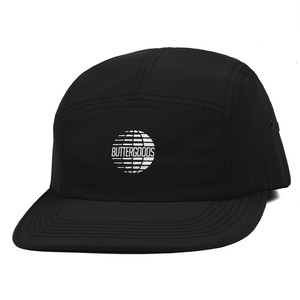 BUTTER GOODS MULTINATIONAL LOGO 5 PANEL CAP BLACK