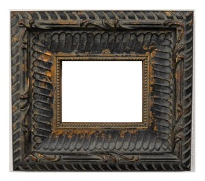 額縁アンティークおしゃれフレーム黒金18-6518額縁寸法100mm×80mm 窓枠サイズ82mm×62mm 2mmアクリル裏板付壁掛け用卓上スタンドは付いておりません。