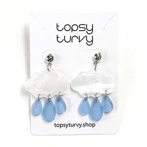 【リニューアル】P1045 -  Rain cloud earrings