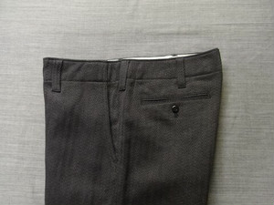 factory herringbone pants / darkgrey
