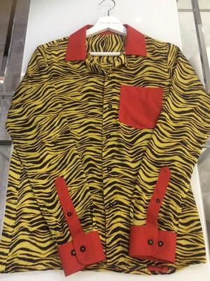 Tiger Animal Print Shirt Blouse トラ柄ブラウスシャツ NHEPW0120