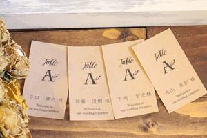ビンテージ エスコートカード クラフト紙  【EK-001】