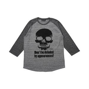 インディーズデザインTシャツ「外見に惑わされるな!」 メンズラグランTシャツ