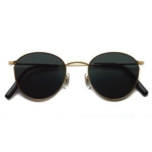 EYEVAN アイヴァン / QUINCY Sun / Gold ゴールド-ブラック(ダークグレー)偏光レンズ  ボストンラウンドサングラス