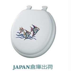 Tropical Fish 刺繍入りソフト便座 420mmサイズ