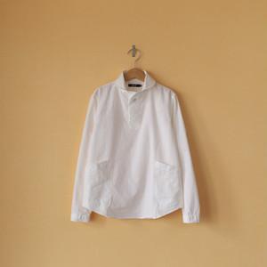 LOLO ロロ 定番オックスプルオーバーシャツ・オフホワイト