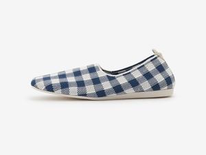 gingham check pattern / BLUE & WHITE