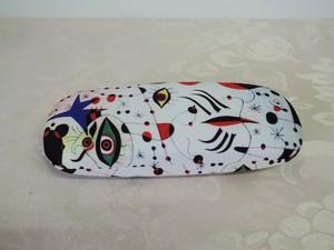 メガネケース おしゃれ メンズ レディース ハード Joan Miro ジョアン・ミロ クロス付き ホワイト アート好きの方におすすめ