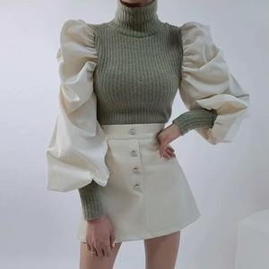 shoulder by color knit 2color