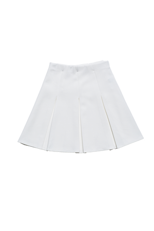 プリーツミニスカート/white