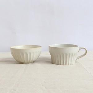 【SET-0026】*美濃焼* 磁器 粉引のうつわセット お茶碗+カップ