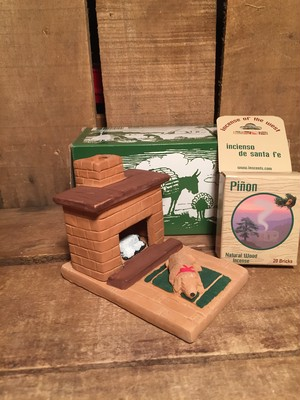 "Incienso De Santa Fe Burner ""Hearth Puppy"" Incense 20pcs set"